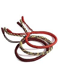 Okdeals Lucky Handmade Buddhist Knots Rope Bracelet - Tibetan Buddhist Handmade Bracelet