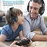 VersionTech-G2000-Stereo-Gaming-Headset-for-PS4-Xbox-One-Bass-Over-Ear-Headphones-with-Mic-LED-Lights-and-Volume-Control-for-Laptop-PC-Mac-iPad-Computer-Smartphones-Blue