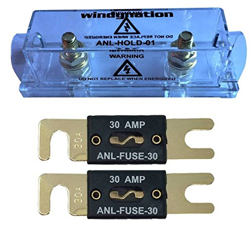 WindyNation ANL Fuse Holder + ANL Fuse (2pcs 30A Fuse)
