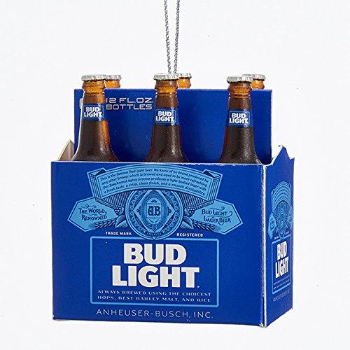 Kurt Adler Budweiser Bud Light Six-Pack Miniature Christmas Ornament