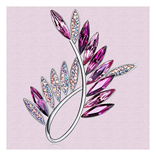 (RAINBOW BOX Brooches for Women Fashion,Rhinestone from Swarovski Crystal Jewelry Brooch Pins for Valentine Birthday Gifts)