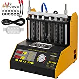 BestEquipCT200 Ultrasonic Fuel Injector Cleaner&Tester Automotive Fuel Cleaning Tools for Car Motor 4-Cylinder