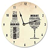 made in usa wood clock - Stupell Home Décor His and Hers Wine and Beer Art Vanity Clock, 12 x 0.4 x 12, Proudly Made in USA