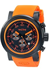 red line Men's RL-50050-BB-01-OAS Torque Sport Stainless Steel Watch with Orange Band