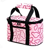 Super Storage Containers,FuzzyGreen Pink Canvas Heavy-duty Waterproof Zipper Hot & Cold Insulated Cooler Tote Carrying School Travel Outdoor Picnic Lunch Lunchbox Sandwich Storage Container Bag