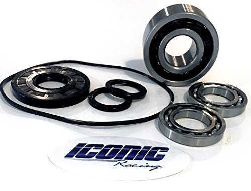 Iconic Racing Front Differential Gear Case Bearing and Seal Kit With O-ring Compatible With 11-16 Polaris RZR 570 800 900 -