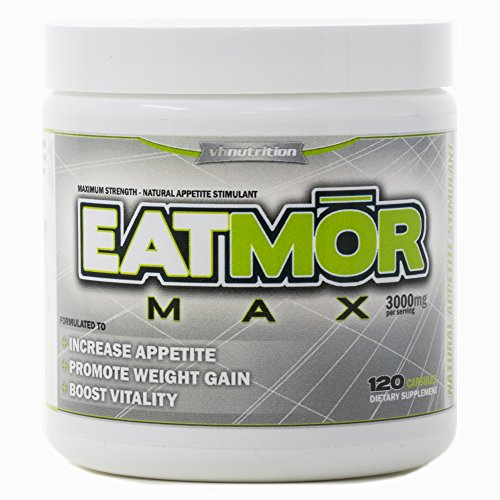EatmorMAX Appetite Stimulant | Weight Gain Pills for Men & Women | Natural Orxegenic Supplement by VH Nutrition