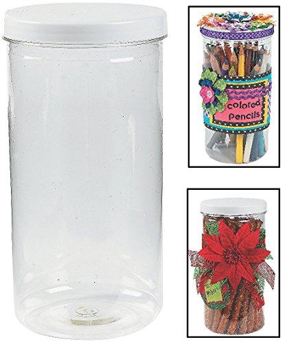 Tall Jars with Twist On/off Lid. (12 Pack) 8