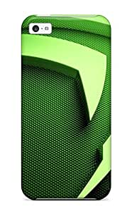 High Grade JessicaBMcrae Flexible Tpu Case For Iphone 5c - Chinese Symbol Green