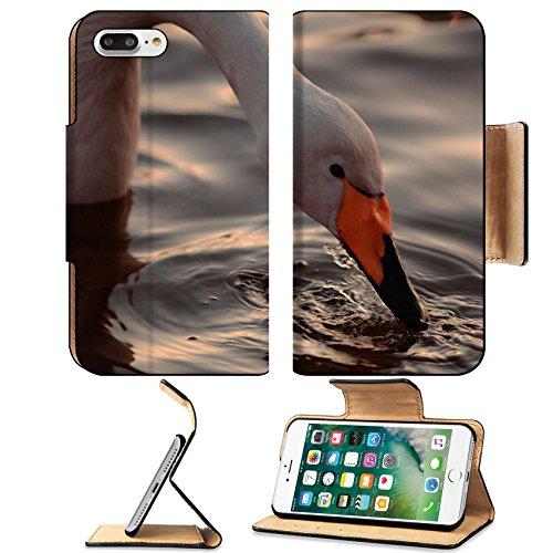 msd-premium-apple-iphone-7-plus-flip-pu-leather-wallet-case-a-closeup-portrait-of-whooper-swan-drink
