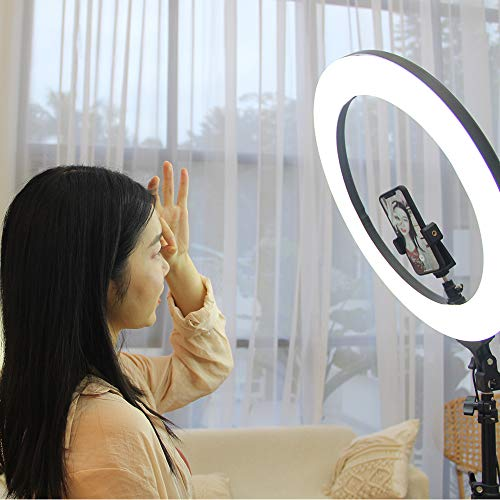 ZOMEi 18'' Dimmable LED Ring Light for Makeup Selfie Photographic Ring Light by ZOMEi (Image #4)