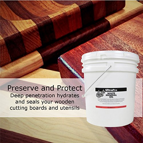 5 Gal - Food Grade Mineral Oil for Stainless Steel, Cutting Boards and Butcher Blocks, NSF by UltraSource (Image #1)