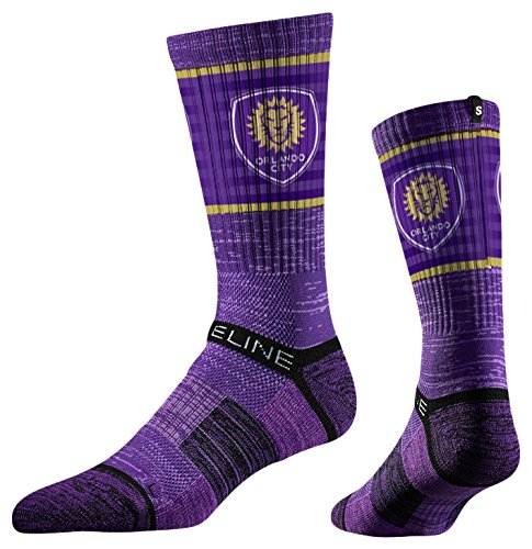 fan products of Strideline MLS Orlando City SC Premium Athletic Crew Socks, Purple, One Size