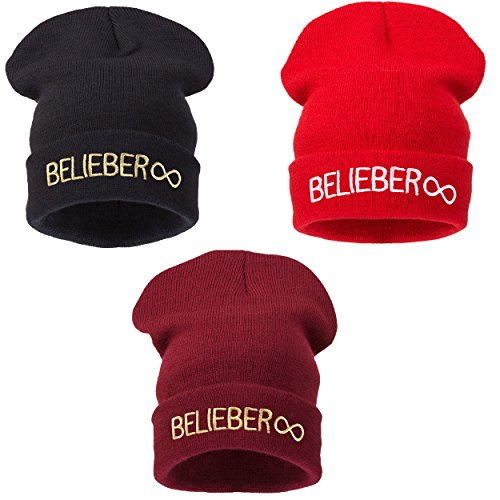Beanie Rojo Bad Oscuro Hat Warm Beliber Hair Winter 4sold Men Day Black vHEwwxq