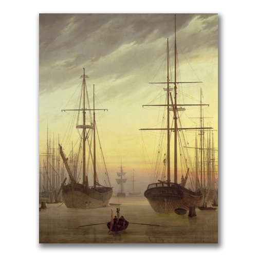 (View Of A Harbour by John Grimshaw, 18x24-Inch Canvas Wall)