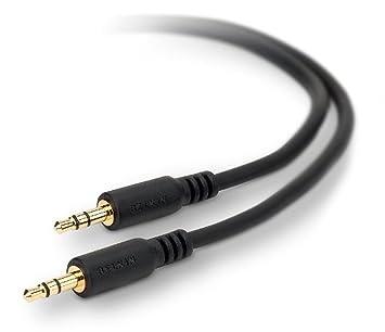 Belkin F8V203TT06-E3-P 3.5mm 3.5mm Negro, Color blanco cable de