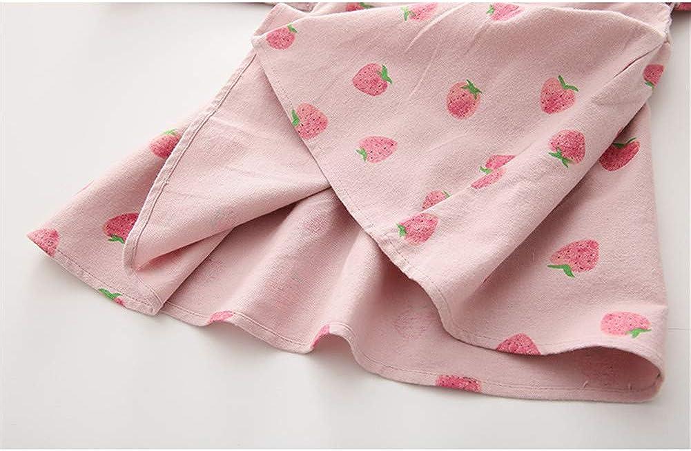 Mud Kingdom Little Girls Dress Flare Long Sleeve Cute Strawberry
