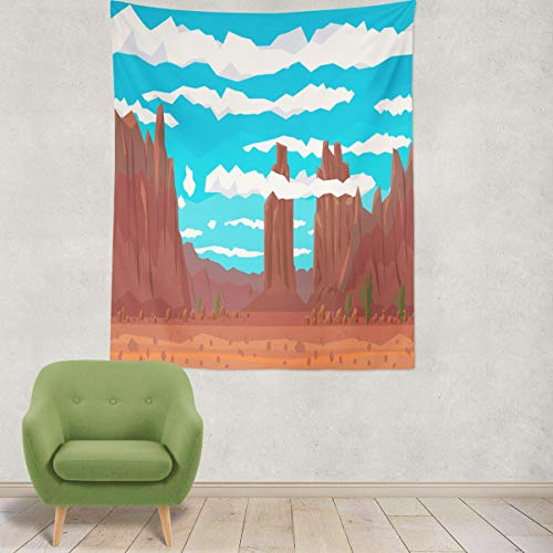 Asoco Tapestry Wall Hanging Desert Landscape with and for sale  Delivered anywhere in Canada
