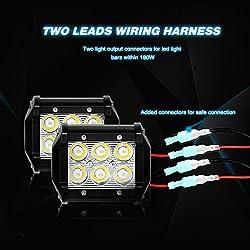 Nilight NI-WA 07 LED Light Bar Wiring Harness Kit