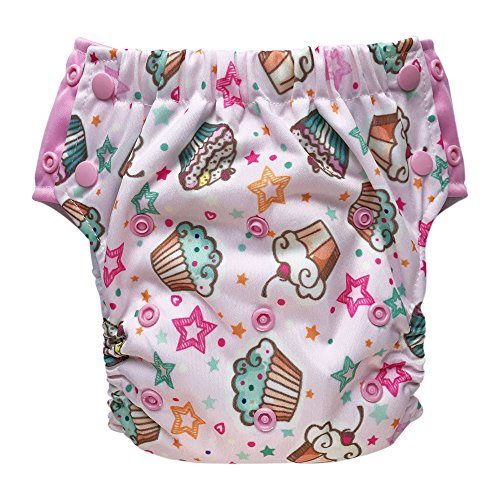 EcoAble Baby Convertible 3-in-1 Cloth Diaper Hybrid w/Pocket & Insert: Everyday Use, Swim or Potty Training (Size 2 / 15-35Lb, - Soaker Pants