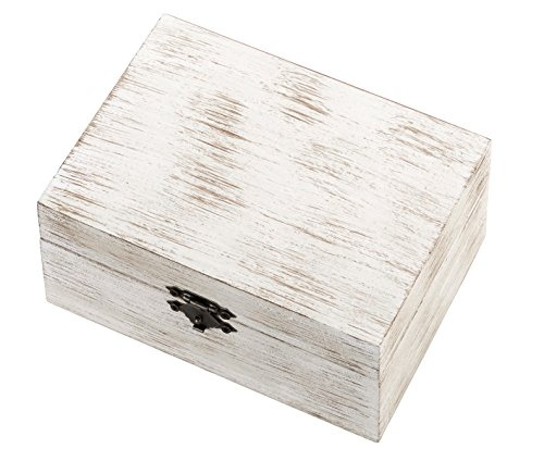 Lillian Rose RA510 B Rustic Wood White Wedding Rings & Vows Box, Multicolor]()