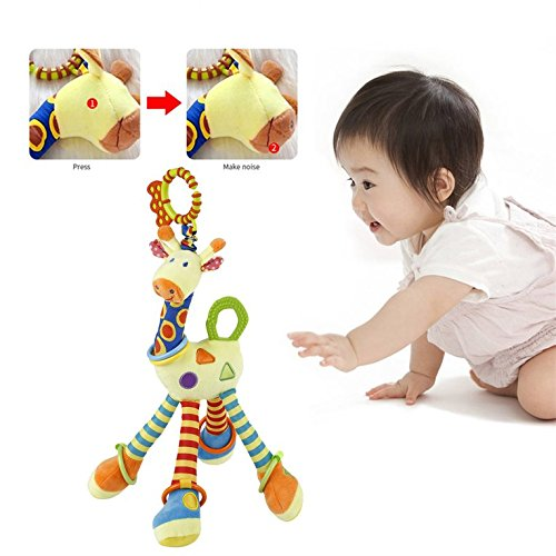 Kytree Plush Lovely Giraffe Toy Developmental Interactive Baby Soft Handle Toys