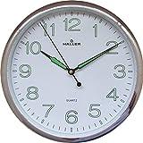 Relógio De Parede Pontual com mecanismo silencioso Haller 30cm
