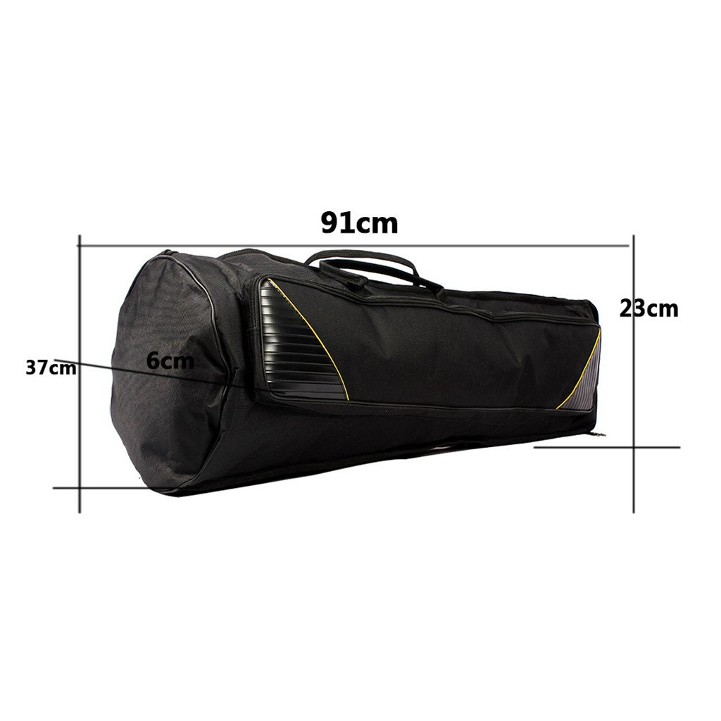 MagiDeal Durable Tenor Trombone Gig Bag Musical Instrument Accessory Carry Bag Backpack Black 91cm 0579002010073FRA