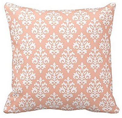 Amazon Com Babyssj Chic Peach Color And White Flower Pattern Throw