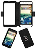 Acm SVIEW Window Designer Rotating Flip Flap Case for Micromax Canvas Doodle 4 Q391 Mobile Smart View Cover Stand Black