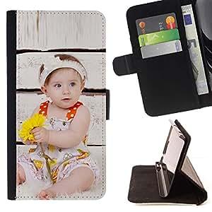 For HTC One A9 Case , Wonder lindo Kid Mother Love- la tarjeta de Crédito Slots PU Funda de cuero Monedero caso cubierta de piel