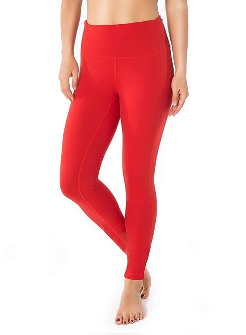 "27cefed500792 Yogipace (Petite Length) Women's 25"" Inseam Waisted Yoga Leggings  Workout Gym Active Pants"