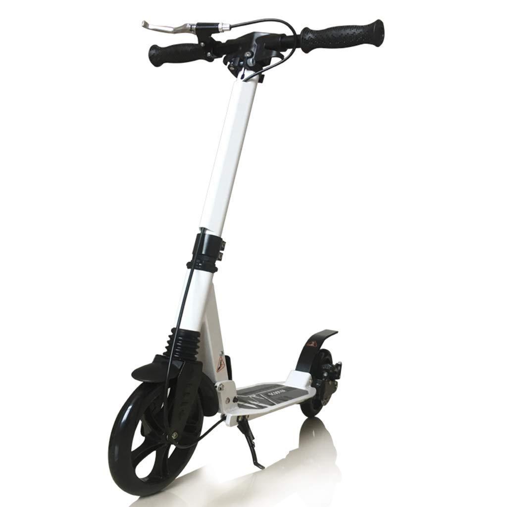 CMXIA con Il motorino Pieghevole a Due Ruote del Ragazzo del motorino della Bici a Due Ruote di Altezza Regolabile del Freno a Mano Adulto Tutto Il motorino di Alluminio ( Colore   bianca )