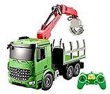 Bo-Toys Large 15 inch Rc Mercedes Benz Actros Crane Heavy Construction Truck Remote Control 1:20 , Extending Crane ,Lights Sound