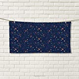 smallbeefly Astrology Sports Towel Solar System Planet Astronomy Cosmos Galaxy Mysterious Universe Absorbent Towel Dark Blue Orange Turquoise Size: W 12'' x L 35.22''