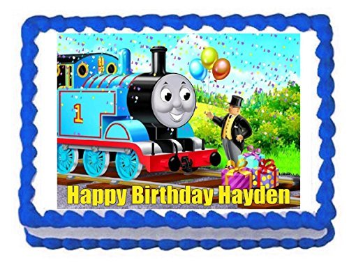 (Unbranded Thomas and Friends Train Edible Cake Image Frosting Sheet Decoration Cake)