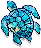 PC Hardware : Vinyl Junkie Graphics 3 inch Sea Turtle Sticker for Laptops CupsTumblers Cars and Trucks any smooth surface (cyan dream)