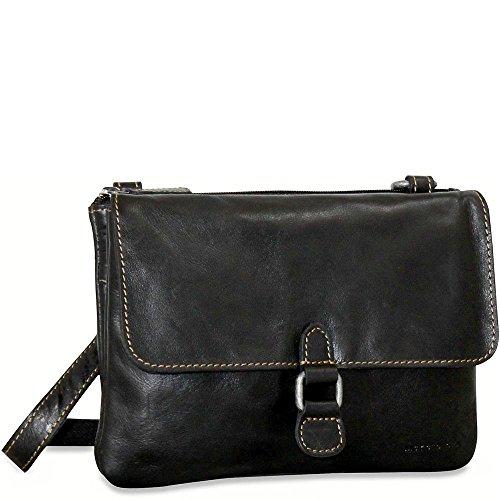 Jack Georges Womens Briefcase - Jack Georges Voyager Wallet on a String (Black)
