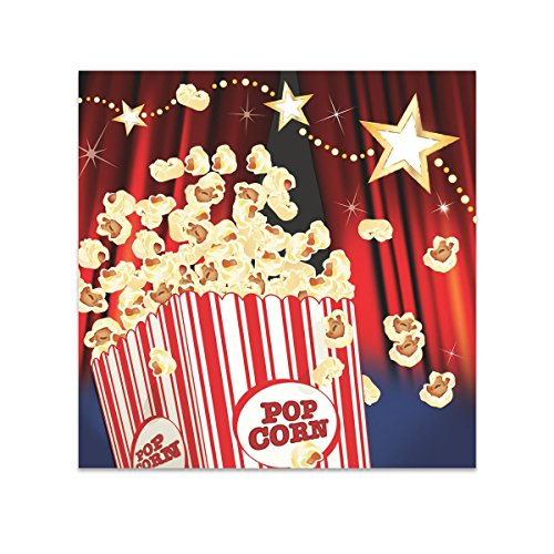 Creative Converting 16 Count Hollywood Lights Beverage Napkins, Red/White/Black - Hollywood Costumes Ideas For Groups