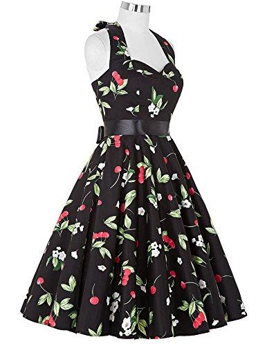 ebd3425df3d307 ... 50s Retro Vintage Rockabilly Kleid Neckholder Festliches Kleid Petticoat  Kleid CL6075-25 RK12U2HCt