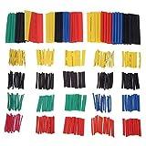 GINZU 328pcs/set Heat Shrink Tubing Insulation Shrinkable Tube Assortment 2:1 Heat Shrink Tubing Wrap Wire Cable Sleeve Kit NEW