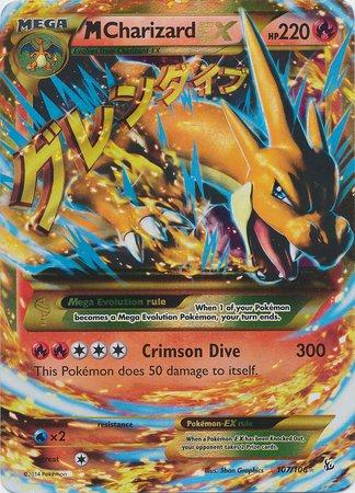 Pokemon - Mega-Charizard-EX (107) - XY Flashfire - Holo ()
