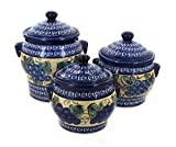 Polish Pottery Grapes Canister Set