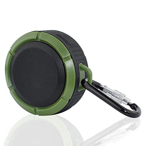 Water Resistant Silicone Bluetooth Speaker Set of 2 (Green) - 7