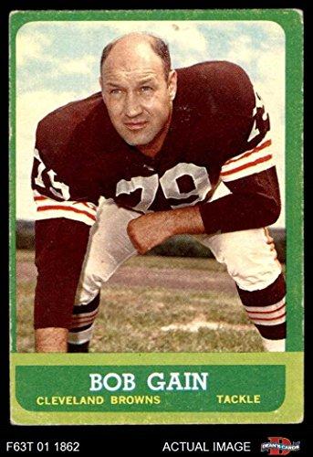 1963 Topps # 23 Bob Gain Cleveland Browns-FB (Football Card) Dean's Cards 2 - GOOD Browns-FB