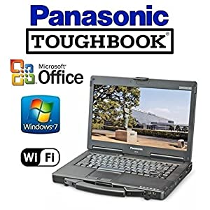 "Panasonic CF-53 Toughbook Rugged Laptop - 14"" TOUCHSCREEN -Windows 7 Pro + MS Office - WiFi - DVD/CD-RW (Certified Refurbished)"
