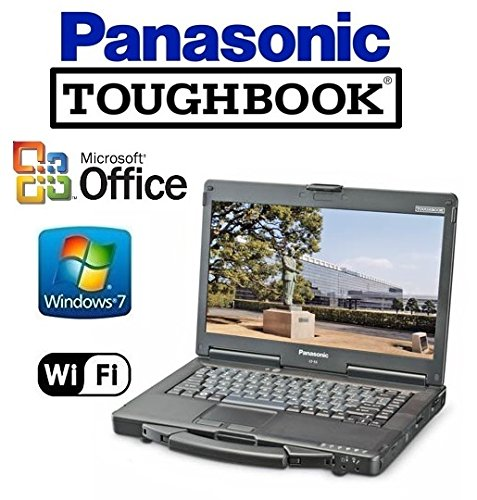 Toughbook Drive Panasonic Hard (Refurbished Panasonic CF-53 Toughbook Rugged Laptop - 14