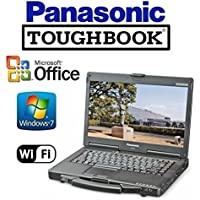Refurbished Panasonic CF-53 Toughbook Rugged Laptop - 14 TOUCHSCREEN - i5 2.5GHz CPU - NEW 256GB Solid State Drive - 8GB RAM - Windows 7 Pro + MS Office - WiFi - DVD/CD-RW