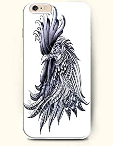 iPhone 6 (4.7inch) Case, OOFIT Phone Cover Series for Apple iPhone 6 (4.7inch) Case -- Ornate Rooster with Erected Feathers