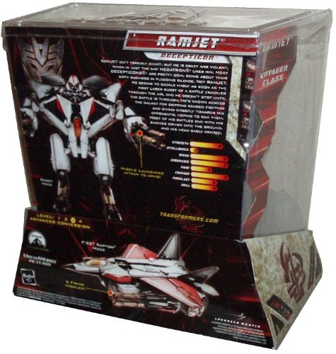 Transformers Movie Series 2 Revenge of the Fallen Exclusive Voyager Class 7-1//2 Inch Tall Robot Action Figure RAMJET with 2 Missile Launchers and 6 Firing Missiles Plus Bonus Limited Edition Collector Card